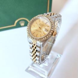 ROLEX  ロレックス ダイヤ40P デイト 腕時計