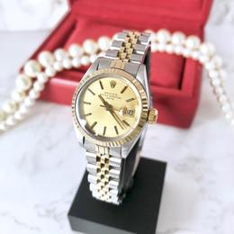 ROLEX ロレックス オイスターパーペチュアル K18YGコンビ レディース 腕時計
