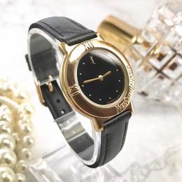 YSL イヴサンローラン ブラック文字盤 ベルト2種付 腕時計