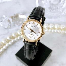 HAMILTON ハミルトン スモセコ ゴールド クォーツ レディース 腕時計