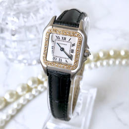 Cartier カルティエ パンテール SM ベルト2色付 コンビ ダイヤモンド 33P 腕時計