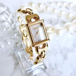 GUCCI グッチ 全純正 ゴールド ドレスウォッチ クォーツ レディース 腕時計
