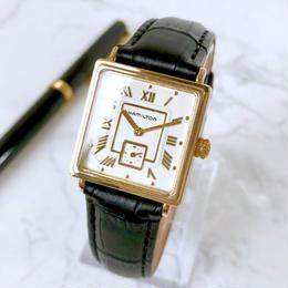 HAMILTON ハミルトン ベルト2色付 スモセコ スクエア 腕時計