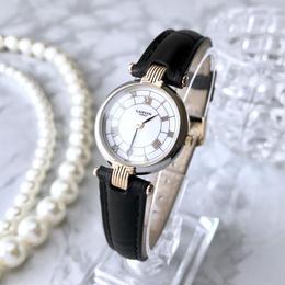LANVIN ランバン コンビ クォーツ レディース 腕時計