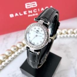 BALENCIAGA バレンシアガ ラウンド ホワイト文字盤 クォーツ レディース 腕時計