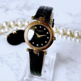 BALENCIAGA バレンシアガ ブラック文字盤 ベルト2色付 ゴールド 腕時計