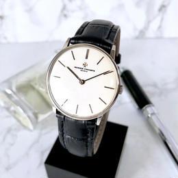 VACHERON CONSTANTIN ヴァシュロン・コンスタンタン K18 ラウンド シルバー 手巻き メンズ 腕時計