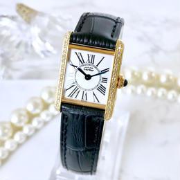 Cartier カルティエ タンク オパラン文字盤 ダイヤモンド 腕時計