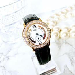 Cartier カルティエ マストロンド 40P 高級天然ダイヤモンド トリニティ クォーツ レディース 腕時計