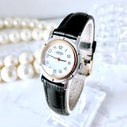 HERMES エルメス クリッパー 全純正 ベルト2種付き クォーツ レディース 腕時計
