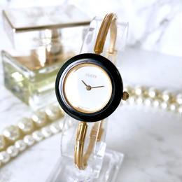 GUCCI グッチ OH済 チェンジベゼル 5色付き ゴールド  腕時計