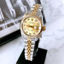 ROLEX ロレックス オイスター パーペチュアル デイトジャスト ダイヤ 10P 腕時計
