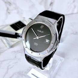 HUBLOT ウブロ クラシック MDM デイト クォーツ メンズ 腕時計