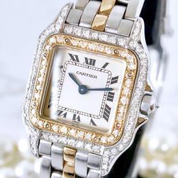 Cartier カルティエ パンテール SM OH済 ダイヤモンド 95P レディース 腕時計