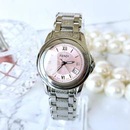 FENDI フェンディ ピンク文字盤 クォーツ レディース 腕時計