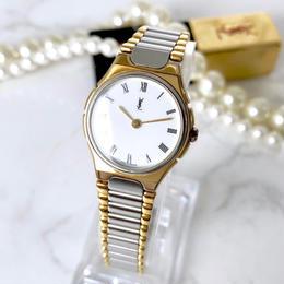 YSL イヴサンローラン 全純正 コンビ 腕時計