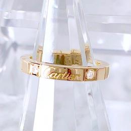 Cartier カルティエ ラニエール K18YG ダイヤモンド 2P 10号 レディース 指輪