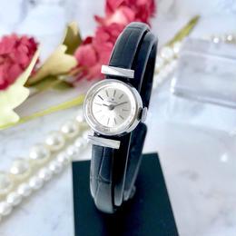 HAMILTON ハミルトン カットガラス シルバー 手巻き レディース 腕時計