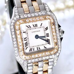 Cartier カルティエ パンテール  SM ダイヤモンド  95P クォーツ レディース 腕時計