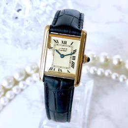 Cartier カルティエ タンク ベルト2色付 ゴールド  腕時計