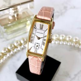 HAMILTON ハミルトン ベルト2色付 アードモア スモセコ ゴールド 腕時計