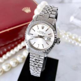 ROLEX ロレックス オイスター パーペチュアル デイト シルバー 腕時計