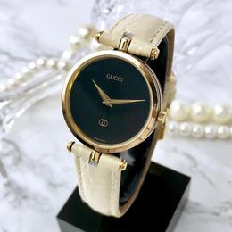 GUCCI グッチ ベルト2色付き ブラック文字盤 シェリーライン  腕時計