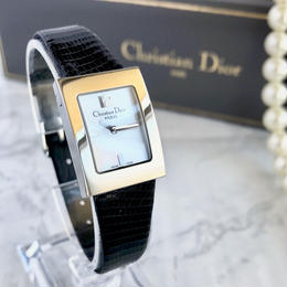 Christian Dior ディオール ホワイトシェル文字盤 レディース 腕時計