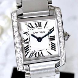 Cartier カルティエ タンクフランセーズ 新品仕上げ ダイヤモンド 25P レディース 腕時計