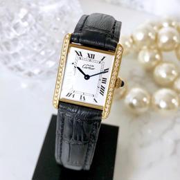 Cartier カルティエ タンク ホワイト文字盤 ダイヤモンド 36P 腕時計