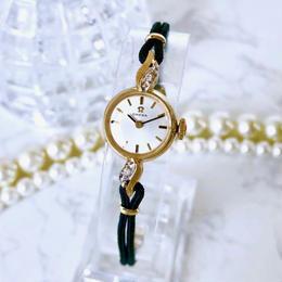 OMEGA オメガ  OH済 14K金無垢 ベルト2色付 ダイヤモンド  腕時計
