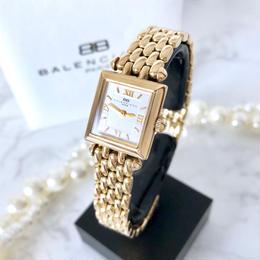 BALENCIAGA バレンシアガ 全純正 ゴールド スクエア クォーツ レディース 腕時計