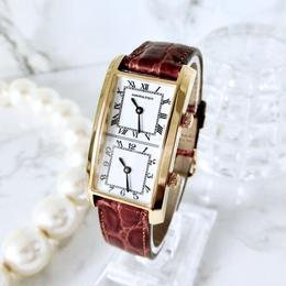 HAMILTON ハミルトン ベルト2種付き ダブルフェイス デュアルタイム アメリカントラベラー クォーツ レディース 腕時計