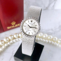 ROLEX ロレックス プレシジョン シルバー 高級天然ダイヤモンド 32P 手巻き レディース 腕時計