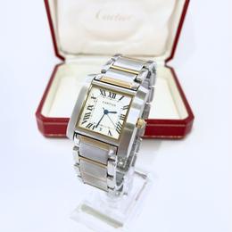 Cartier カルティエ タンクフランセーズ デイト 腕時計