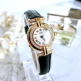 Cartier カルティエ マストコリゼ 40P 天然ダイヤモンド クォーツ レディース 腕時計