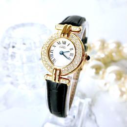 Cartier カルティエ マストコリゼ 76P 天然ダイヤモンド クォーツ レディース 腕時計