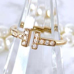 Tiffany ティファニー Tワイヤーリング ダイヤモンド 12P 10号 レディース 指輪