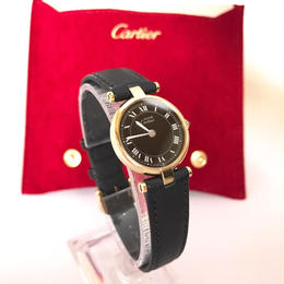 Cartier  カルティエ ヴァンドーム 文字盤ブラック 腕時計