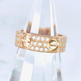 Cartier カルティエ ラブリング フルパヴェダイヤ 66P 7号 リング