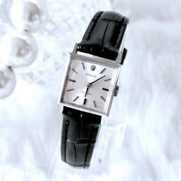 ROLEX ロレックス プレシジョン スクエア シルバー 手巻き レディース 腕時計