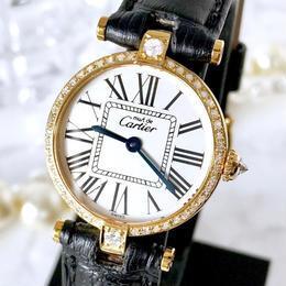 Cartier カルティエ ヴァンドーム オパラン ベルト2色付 ダイヤモンド47P レディース 腕時計