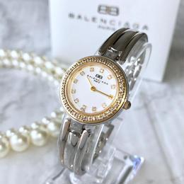 BALENCIAGA バレンシアガ ラ ウンドフェイス バングル レディース 腕時計