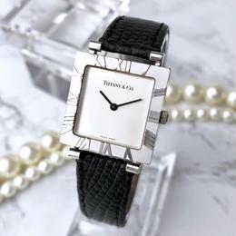 Tiffany ティファニー アトラス ベルト2色付 スクエア シルバー 腕時計