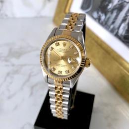 ROLEX ロレックス OH済オイスター パーペチュアル デイトジャスト ダイヤモンド 腕時計