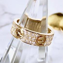Cartier カルティエ ラブリング  K18YG  フルパヴェダイヤ 66P 8号 指輪