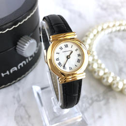 HAMILTON ハミルトン ラウンドフェイス ゴールド 腕時計