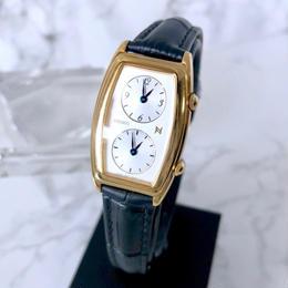 SEIKOセイコー 希少 デュアルタイム ベルト2色付き ゴールド  腕時計