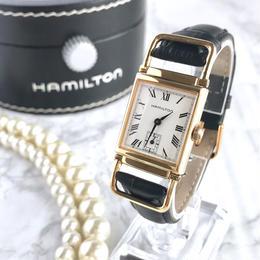HAMILTON ハミルトン スクエアフェイス ゴールド クォーツ レディース 腕時計