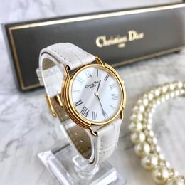 Christian Dior クリスチャンディオール レザーベルト2色付き 腕時計